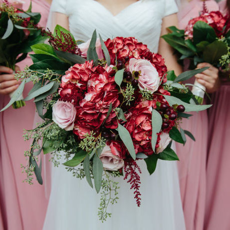 Beautiful Cranberry and Blush Wedding