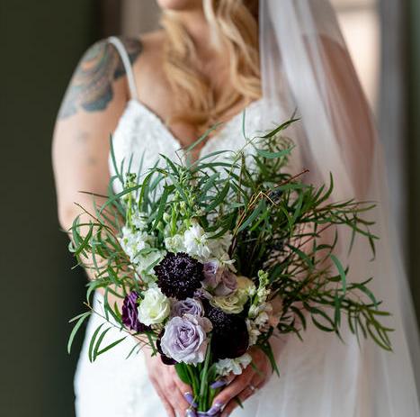 Lavender and Fresh Herb Valentine's Day Wedding