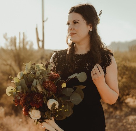 Black and Terra Cotta Desert Elopement
