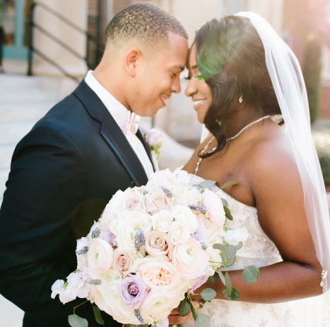Blush, Lavender and Gold Military Wedding