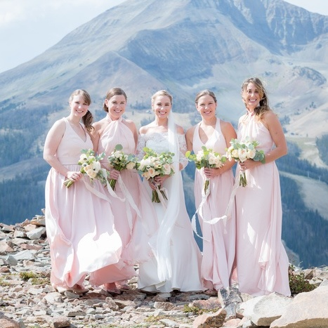 Classic Creamy and Blush Mountain Wedding
