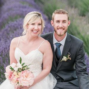 Colorful Blush Garden Rose and Dahlia Wedding