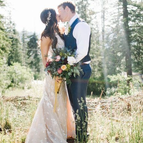 Colorful Boho Mountain Wedding
