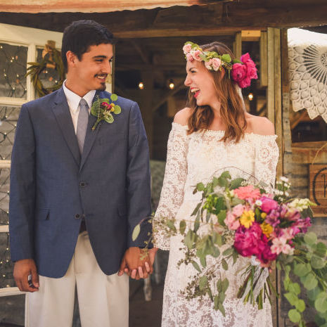 Colorful, Textural Wildflower Wedding