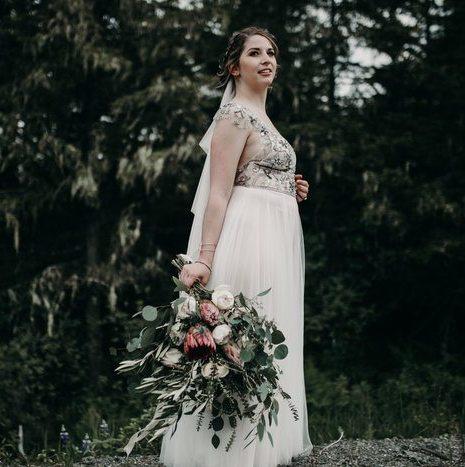 Bohemian Alaskan Wedding in the Mountains