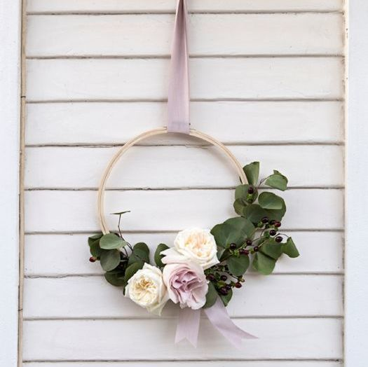Floral Hoop Decor with Something Turquoise