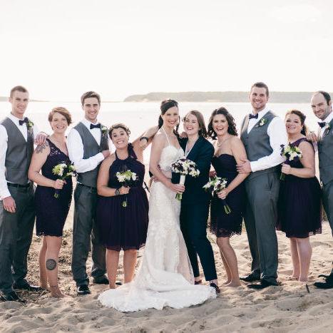 Fresh Green & Purple Mod Rustic Wedding