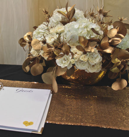 Gold and White Centerpiece Inspiration