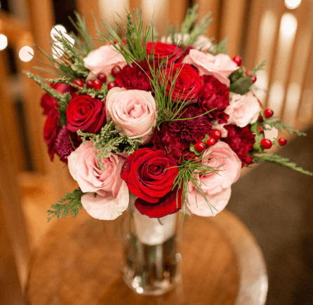 Winter Rose and Bahlia Wedding