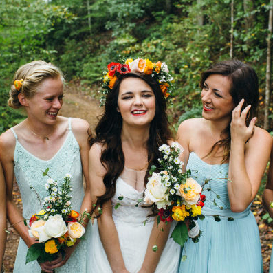 Multicolored Boho Wedding