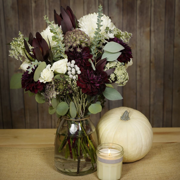 Oxblood and Sage Centerpiece Inspiration