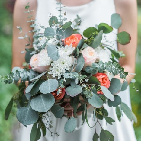 Peach and Apricot Summer Mountain Wedding