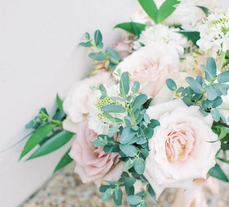 Organic Ivory and Mauve California Wedding