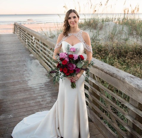 Plum & Rustic Coastal Chic Wedding