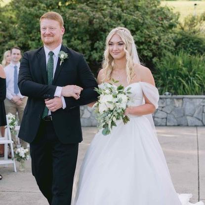 Chic White and Green Riverside Wedding