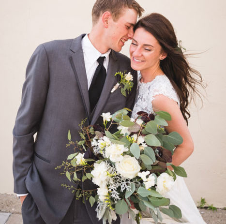 Romantic Ivory and Sage Rustic Wedding