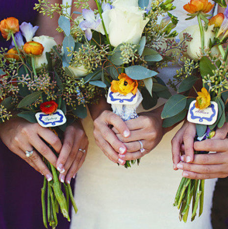 Rustic Orange & Purple Wedding