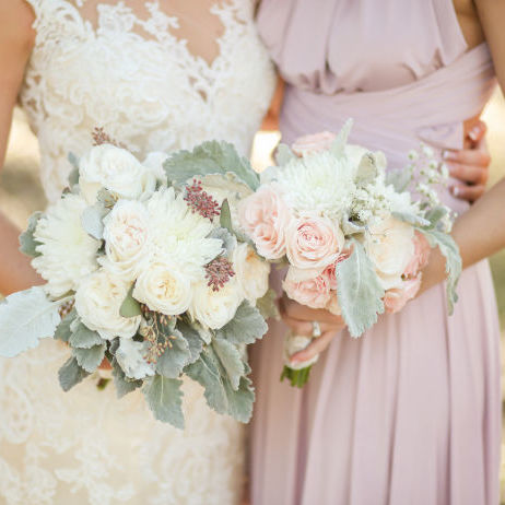 Soft Pink and Sage Green Wedding Flowers