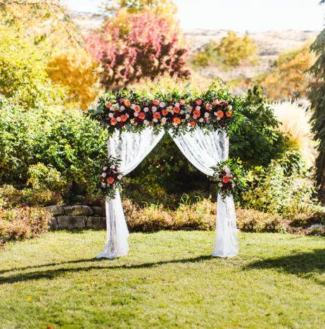Wedding Chicks Garden-Fresh Floral Arbor