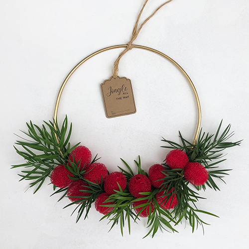 Wild Cherry Modern Wreath