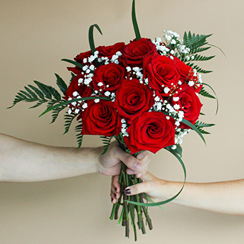 12 Long Stem Roses Valentine's Day Bouquet Delivered