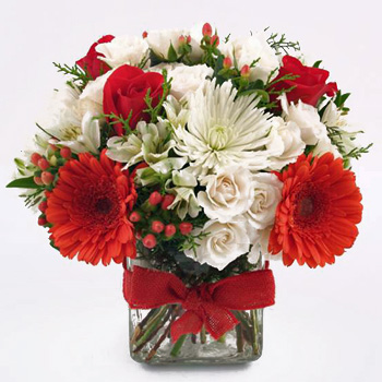 Christmas Flower Arrangements.A Beautiful Christmas Flower Gift