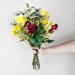 Boho Chic Wedding Bouquet in hand