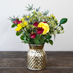 Boho Chic Wedding Flowers in Vase