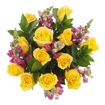 Dozen Yellow Rose Centerpieces