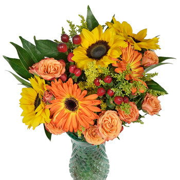 Sunflowers and Gerbera Daisies Centerpiece