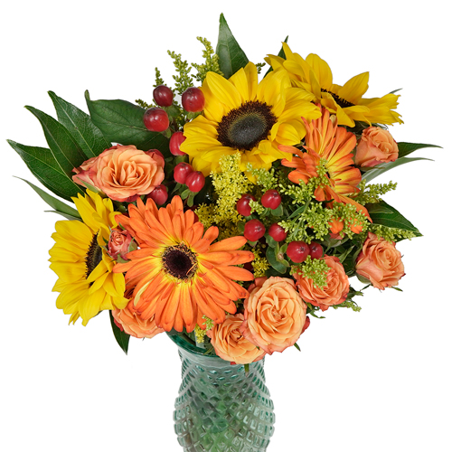 Sunflowers and Gerbera Daisies Centerpiece