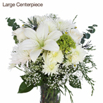 Fresh White Flowers Bridal Table Arrangements