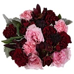 Beautiful Burgundy Flower centerpieces