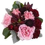 Blushing Burgundy Fresh Flower centerpieces