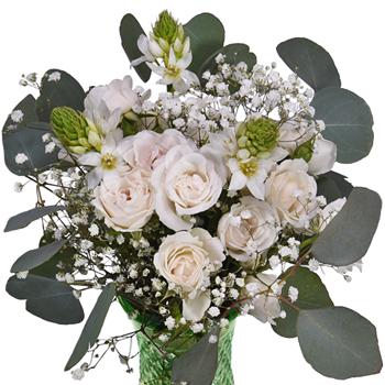 Charming White Fresh Flower Arrangement