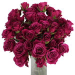 Chess Purpleberry Wholesale Roses In a vase