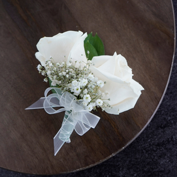 Classic Ivory Rose Corsages