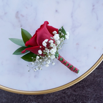 Classic Red Rose Boutonnieres