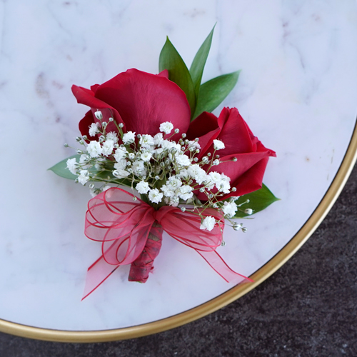 Classic Red Rose Corsages