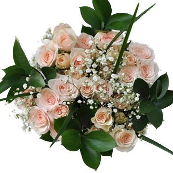 Rose Centerpieces Peach Symphony