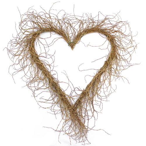 Curly Willow Heart Wreath