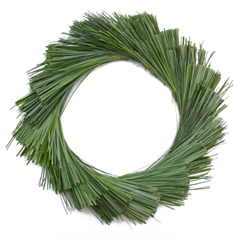 Chunky Beargrass Fresh Greenery Wreath