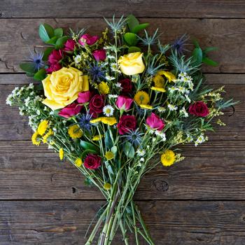 Boho Chic Wedding Flower Flatlay
