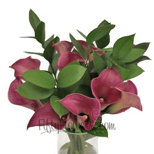 Purpleberry Mini Callas Centerpieces