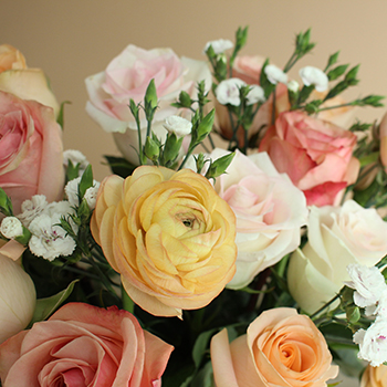 Save the Bouquet Makers Peach Centerpieces | FiftyFlowers
