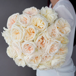 fresh cut white ohara roses sold in an arrangement for flower gifting near me