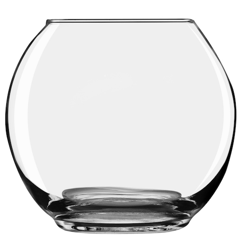Footed Bubble Ball Vases, 5 and 5.8 Inch