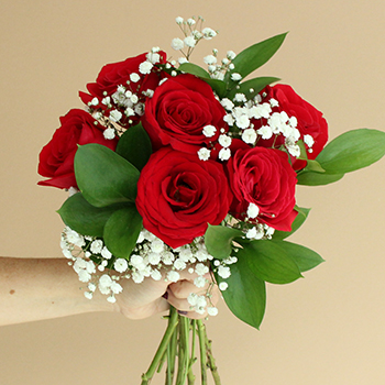 Valentine's Day Six Red Roses Bouquet for Fundraising