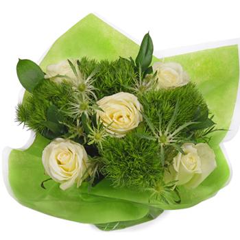 Monochromatic Green Bouquetta Centerpieces