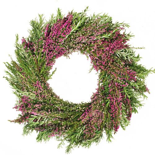 Fresh Heather and Rosemary Wreaths